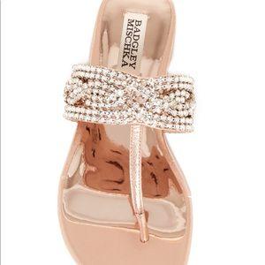 Badgley Mischka Shoes - Badgley Mischka Trent embellished t-strap sandal